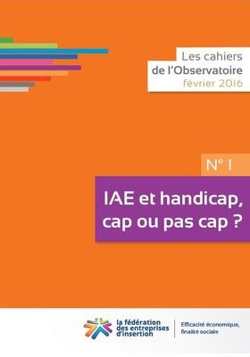 Couv Cahier N°1 de l Observatoire - IAE et handicap : cap ou pas cap ?