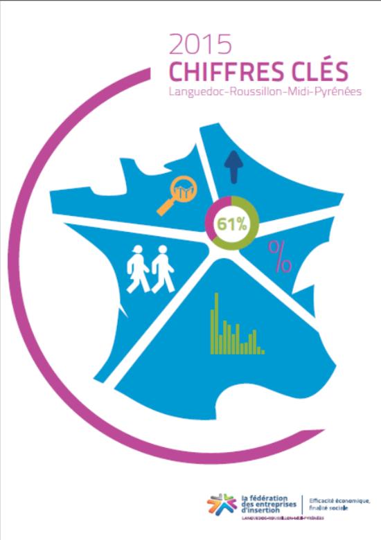 les chiffres clés 2015 de la fédération des entreprises d'insertion Languedoc Roussillon Midi Pyrénées